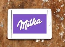 Logotipo do chocolate de Milka fotografia de stock royalty free
