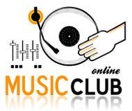 Logotipo do clube da música Imagens de Stock