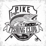 Logotipo do clube da pesca ilustração do vetor