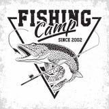 Logotipo do clube da pesca ilustração royalty free