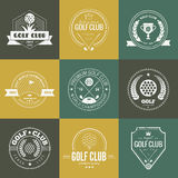 Logotipo do clube de golfe Imagens de Stock Royalty Free