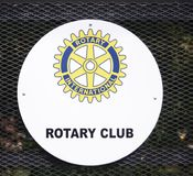 Logotipo do clube de Rotary International Fotos de Stock Royalty Free