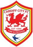 Logotipo do clube do futebol da cidade de Cardiff Imagem de Stock Royalty Free