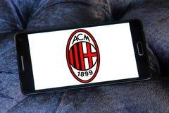 Logotipo do clube do futebol de AC Milan Fotografia de Stock Royalty Free