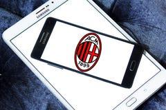 Logotipo do clube do futebol de AC Milan Imagens de Stock Royalty Free
