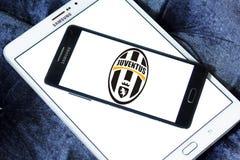 Logotipo do clube do futebol de Juventus Fotografia de Stock Royalty Free