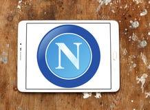 Logotipo do clube do futebol de Napoli Fotografia de Stock Royalty Free