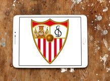 Logotipo do clube do futebol do fc de Sevilha Fotografia de Stock