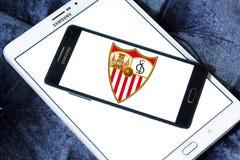 Logotipo do clube do futebol do fc de Sevilha Imagens de Stock Royalty Free