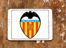 Logotipo do clube do futebol dos cf de Valência Foto de Stock