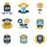 Logotipo do clube do VIP e grupo do vetor dos emblemas Foto de Stock Royalty Free
