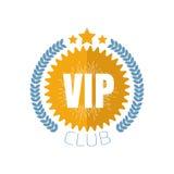 Logotipo do clube do VIP no estilo liso Ilustração do vetor Fotos de Stock