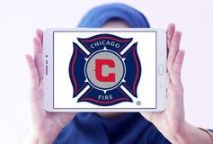 Logotipo do clube do futebol do fogo de Chicago Fotos de Stock