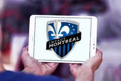 Logotipo do clube do futebol do impacto de Montreal Imagem de Stock