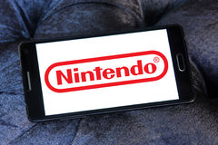 Logotipo do colaborador do jogo de Nintendo foto de stock royalty free