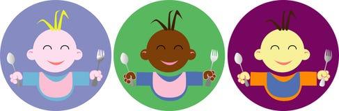 Logotipo do comida para bebé Fotografia de Stock Royalty Free