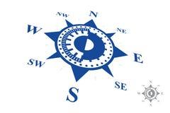 Logotipo do compasso isolado no fundo branco Fotografia de Stock
