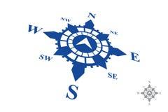 Logotipo do compasso isolado no fundo branco Imagens de Stock