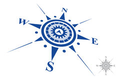 Logotipo do compasso isolado no fundo branco Foto de Stock Royalty Free
