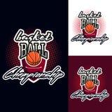 Logotipo do competiam da cor do basquetebol ilustração do vetor