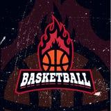 Logotipo do competiam da cor do basquetebol ilustração stock