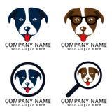 Logotipo do conceito da cabeça de cão Imagens de Stock Royalty Free