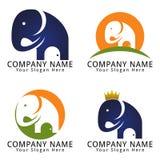 Logotipo do conceito da propriedade do elefante Imagem de Stock