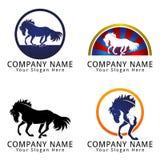 Logotipo do conceito do cavalo Foto de Stock Royalty Free