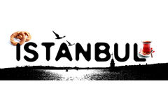 Logotipo do conceito do preto de Istambul Foto de Stock
