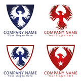 Logotipo do conceito do pássaro de Phoenix Fotografia de Stock Royalty Free