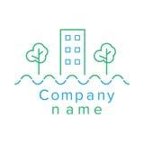 Logotipo do contorno para uma empresa de construção civil Imagens de Stock Royalty Free