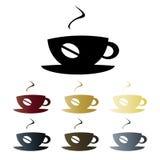 Logotipo do copo de café ilustração stock