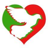 Logotipo do coração das pombas ilustração royalty free