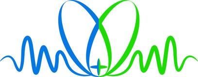 Logotipo do coração EGC ilustração do vetor