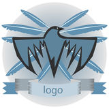 Logotipo do corvo Imagem de Stock