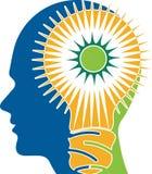 Logotipo do cérebro do poder Fotografia de Stock Royalty Free