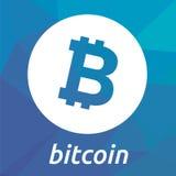 Logotipo do criptocurrency do blockchain de Bitcoin Imagens de Stock