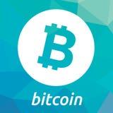 Logotipo do criptocurrency do blockchain de Bitcoin Imagem de Stock Royalty Free