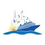 Logotipo do cruzeiro do partido Fotografia de Stock