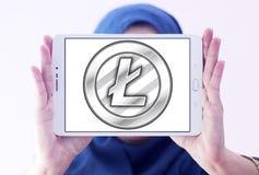 Logotipo do cryptocurrency de Litecoin Imagens de Stock