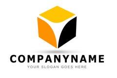 Logotipo do cubo Fotos de Stock Royalty Free