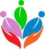 Logotipo do cuidado ilustração royalty free