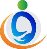 Logotipo do cuidado Imagens de Stock