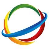 Logotipo do cuidado da energia Imagens de Stock