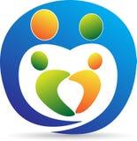 Logotipo do cuidado da família Imagens de Stock