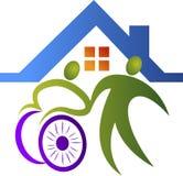 Logotipo do cuidado da inutilização ilustração royalty free