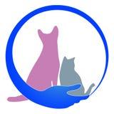 Logotipo do cuidado de animal de estimação ilustração royalty free