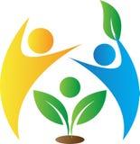 Logotipo do cuidado de Enironmental Imagens de Stock Royalty Free