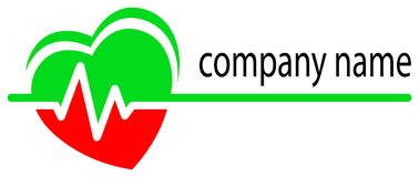 Logotipo do cuidado do coração Imagens de Stock Royalty Free