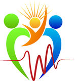 Logotipo do cuidado do coração Foto de Stock Royalty Free